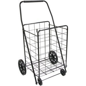 Cheap cart with little wheels.