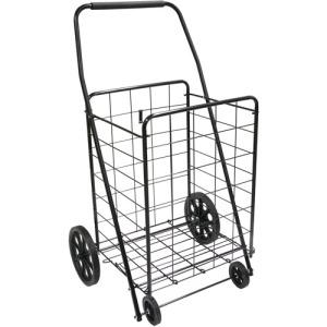 Cheap cart with little wheels.