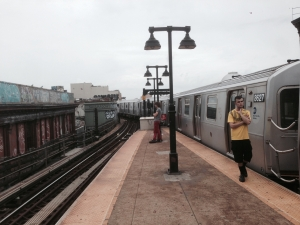This train was stalled at the Myrtle Ave station in Bushwick for a half hour last summer.