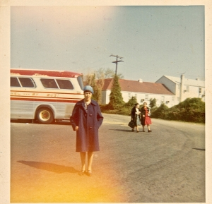On a church trip in the late '60s.