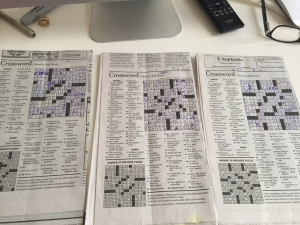 Classic crossword fold.