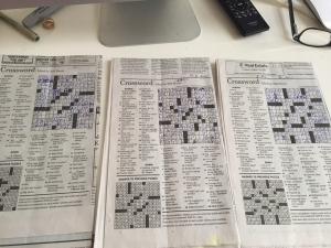 Classic crossword fold.